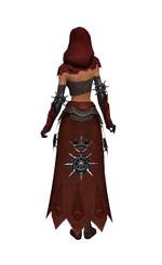 Armure de Lancier d'élite pour derviche (Femme) - Marron + rouge Dos.jpg