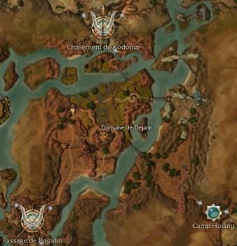 Carte générale - Domaine de Dejarin