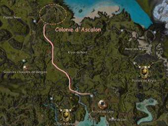 Carte générale - Colonie d'Ascalon