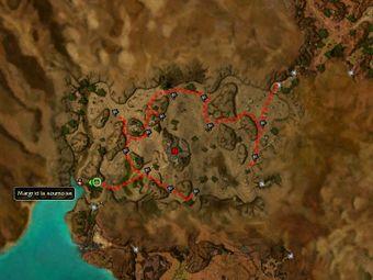 Carte de la quête: Cimetière de Venta (Mission zaishen)