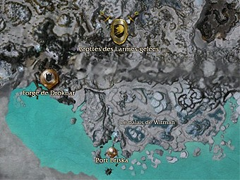 Carte générale - Grottes des Larmes gelées