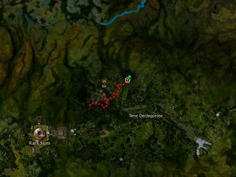 Carte de la quête: G.O.L.E.M. (Mission zaishen)