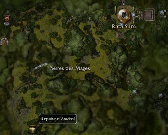 Carte générale - Repaire d'Arachni
