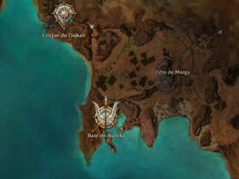 Carte générale - Baie de Nundu