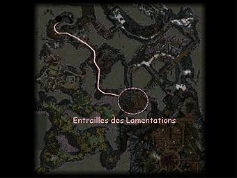 Carte générale - Entrailles des Lamentations