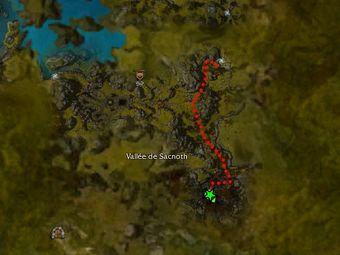 Carte de la quête: L'odeur du Titan au matin