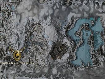 Carte détaillée - Grottes des Larmes gelées (Mission en mode coopératif)