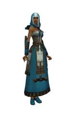 Armure élonienne pour derviche (Femme) - Bleu Face.jpg