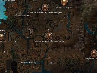 Carte générale - Place de Vizunah