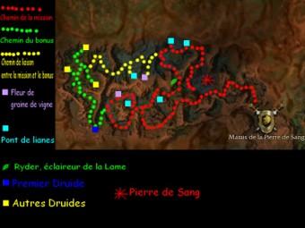 Carte générale - Marais de la Pierre de Sang (Mission en mode coopératif)