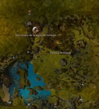 Carte générale - Sanctuaire de la légende funeste