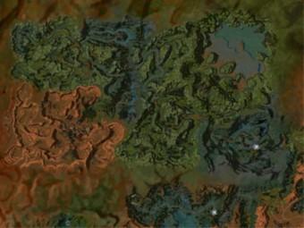 Carte détaillée - Les Contrées sauvages