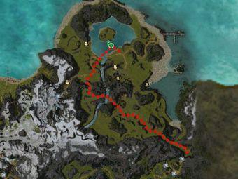 Carte de la quête: Purge du Lagon d'Haiju