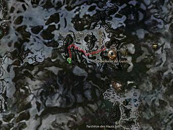 Carte de la quête: Fenrir (Quête zaishen)