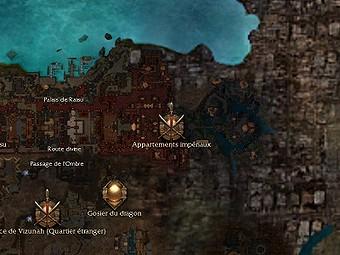 Carte générale - Appartements impériaux