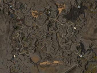 Carte détaillée - Basses-terres de Diessa