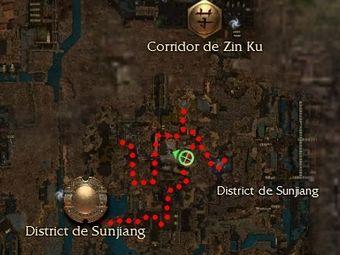 Carte générale - District de Sunjiang (Mission en mode coopératif)