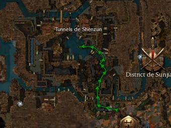 Carte de la quête: Purge des Tunnels de Shenzun
