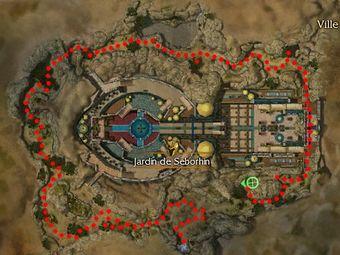 Carte de la quête : Jardin de Seborhin (Vainqueur zaishen)