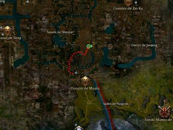 Carte de la quête: Une bataille dans les égouts